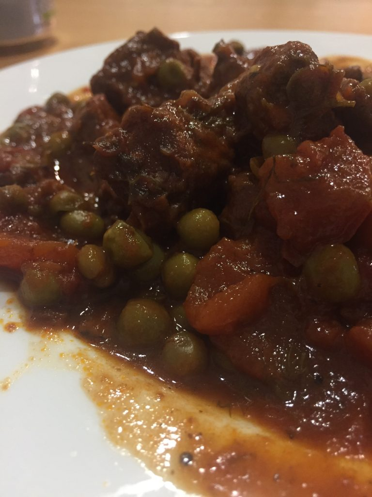 casserole beef with peas