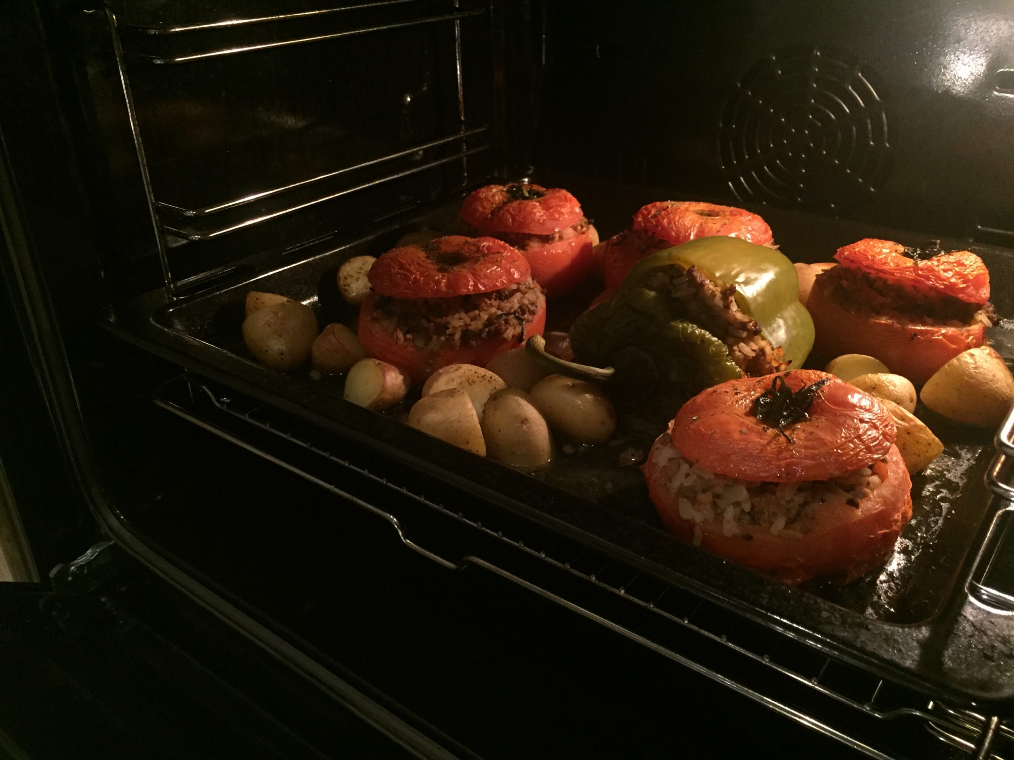 Gemista – Greek Stuffed tomatoes and peppers
