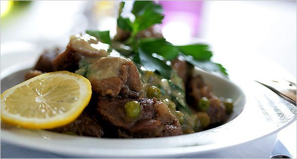 Greek Fricassee with lamb