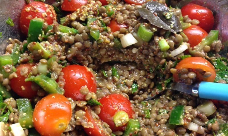 Lentil Salad with mustard sauce