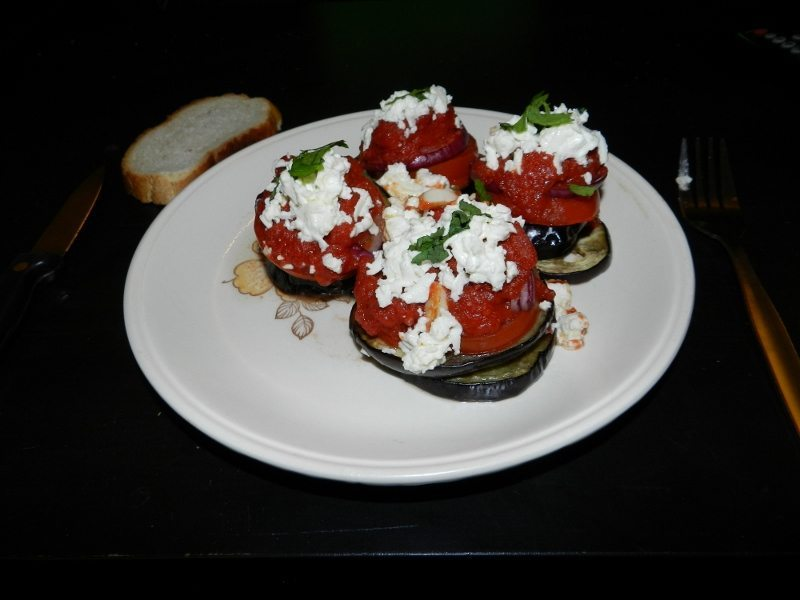 Aubergines with feta cheese-1
