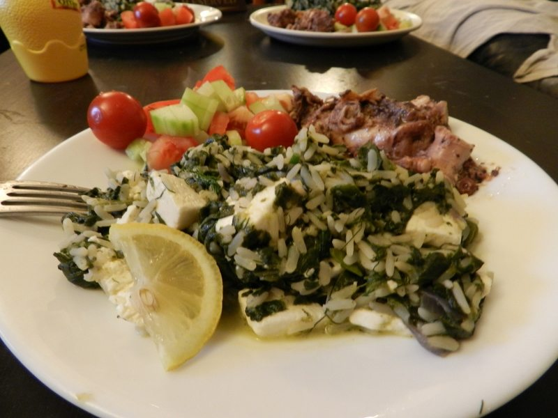 Spinach-Rice-Spanakorizo