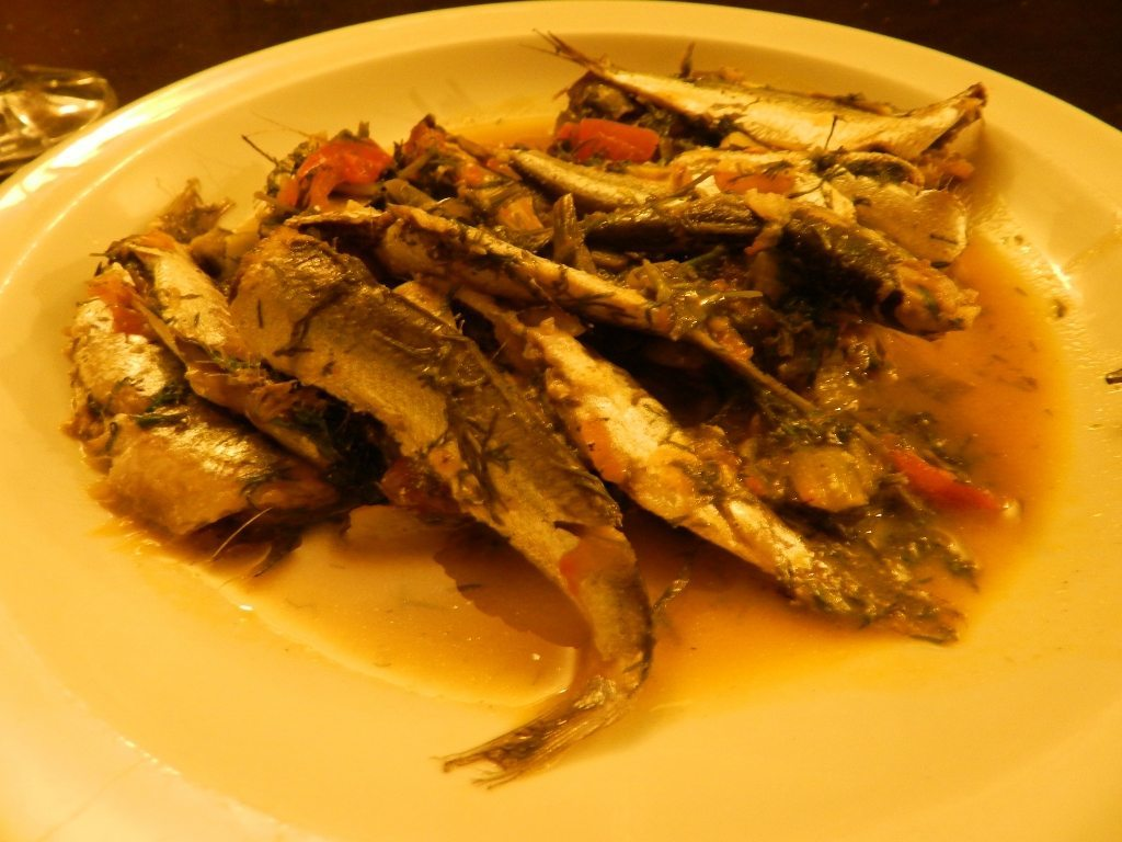 sprats on the plate