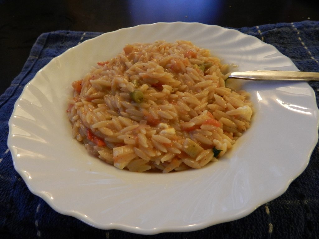 Traditional Greek Orzo pasta with tomato