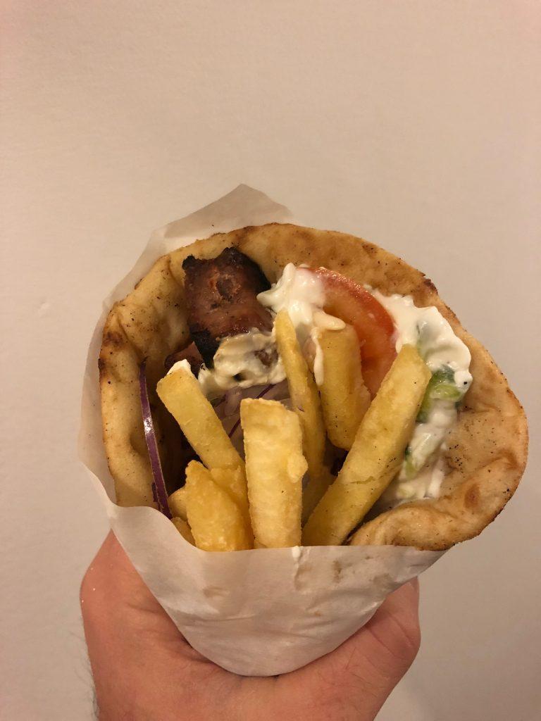 Souvlaki Pita Bread with Pork
