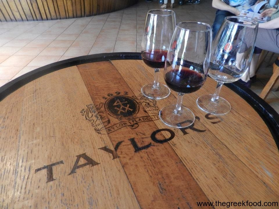 Trying the port wine in Portugal