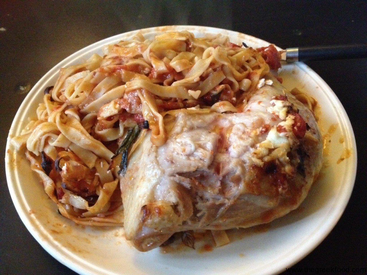 Chicken Tagliatelle in the oven