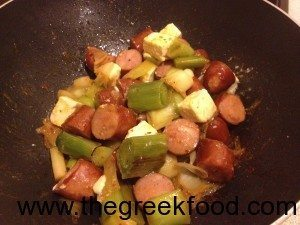 leeks with sausages