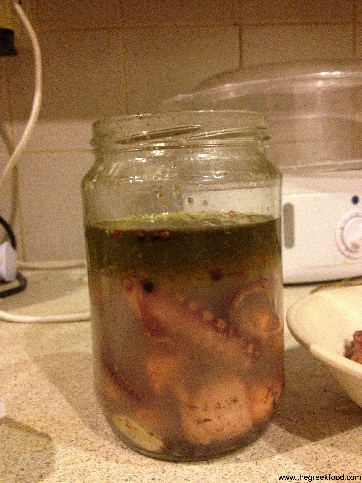 Pickled Octopus in a jar