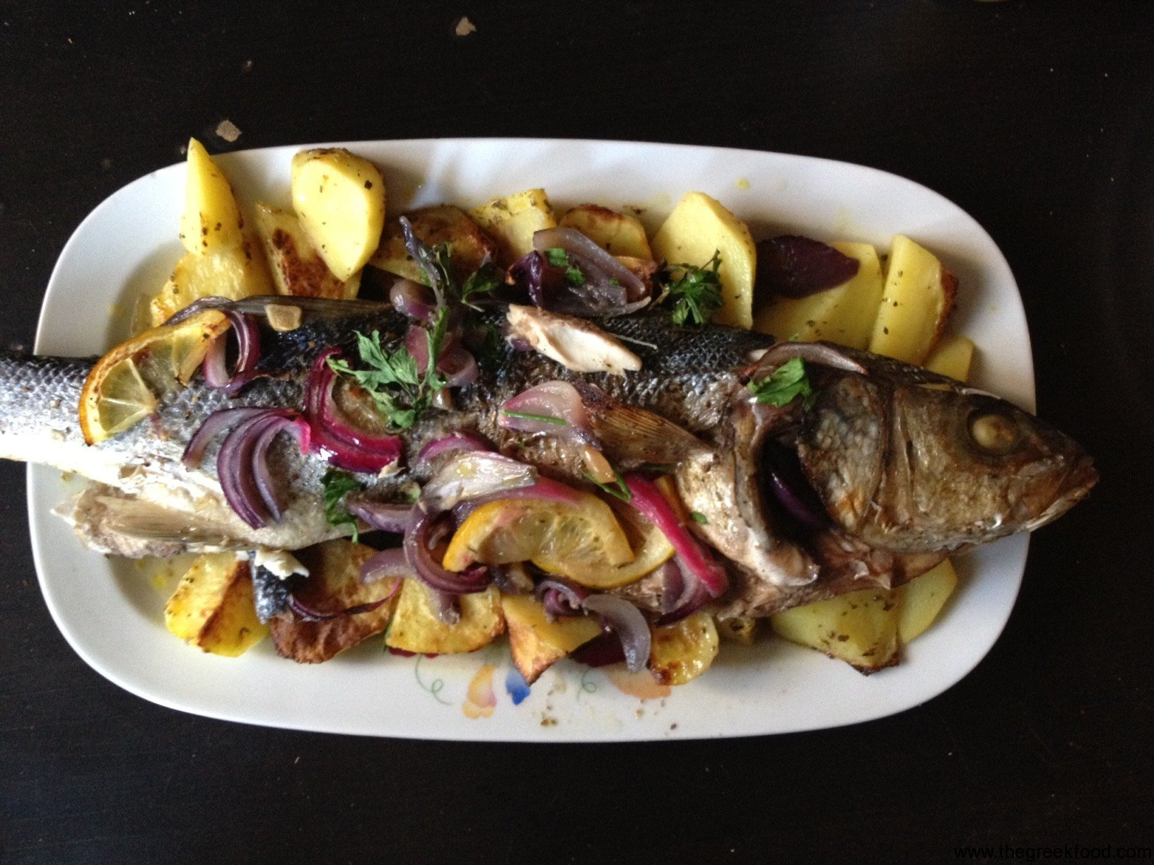 Sea Bass with lemon and potatoes