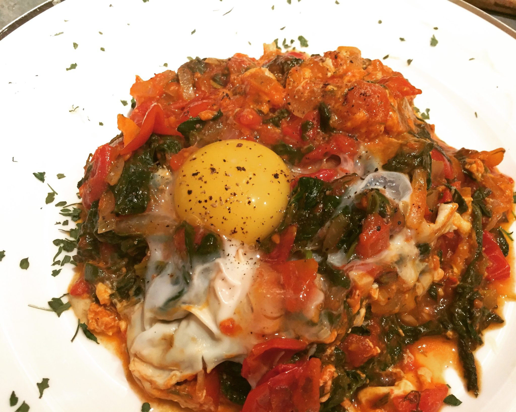 Greens with Eggs for the Poor …that eat like Kings