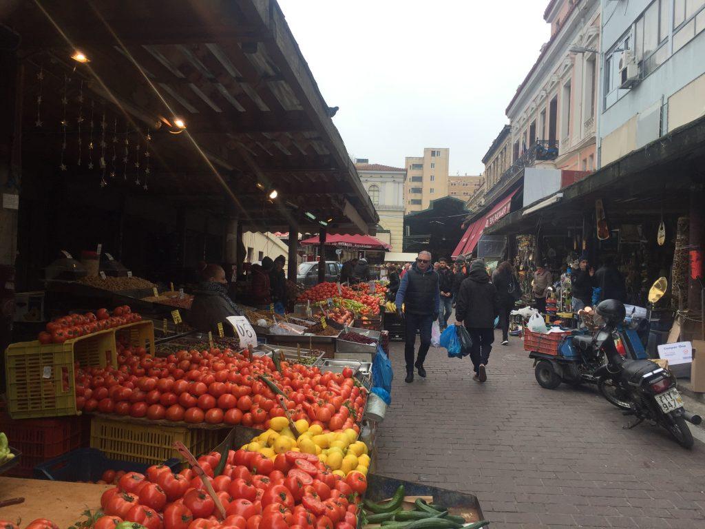 Vegetable market varvakios