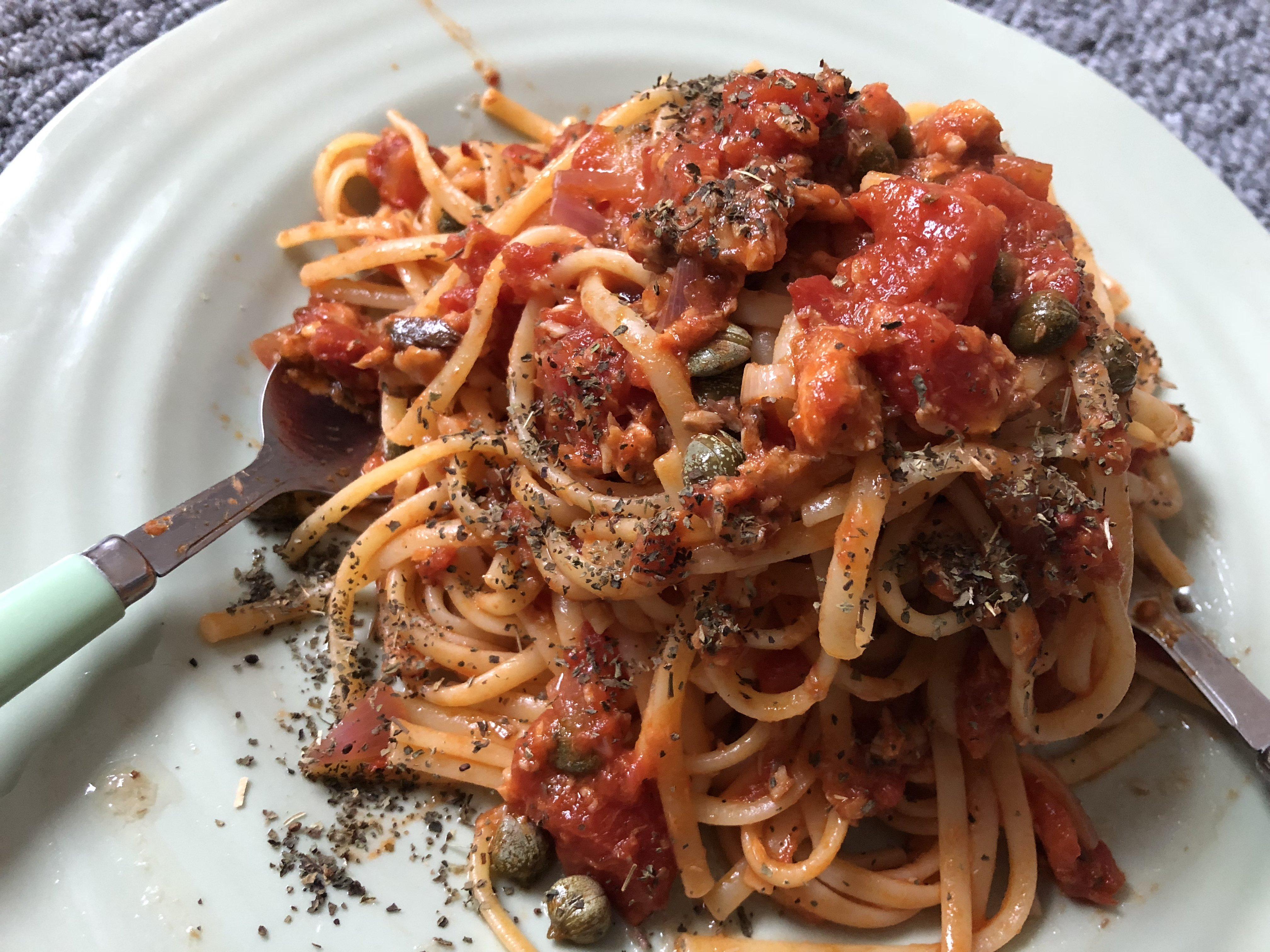 Linguini with Sardines
