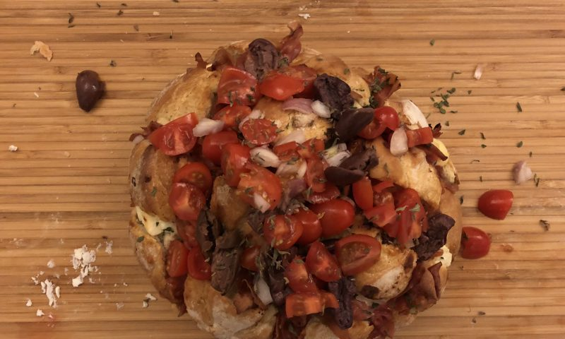 The Greek Pizza Bread – Pull apart