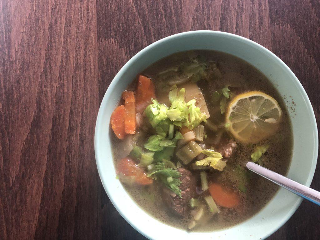 Greek Beef Soup