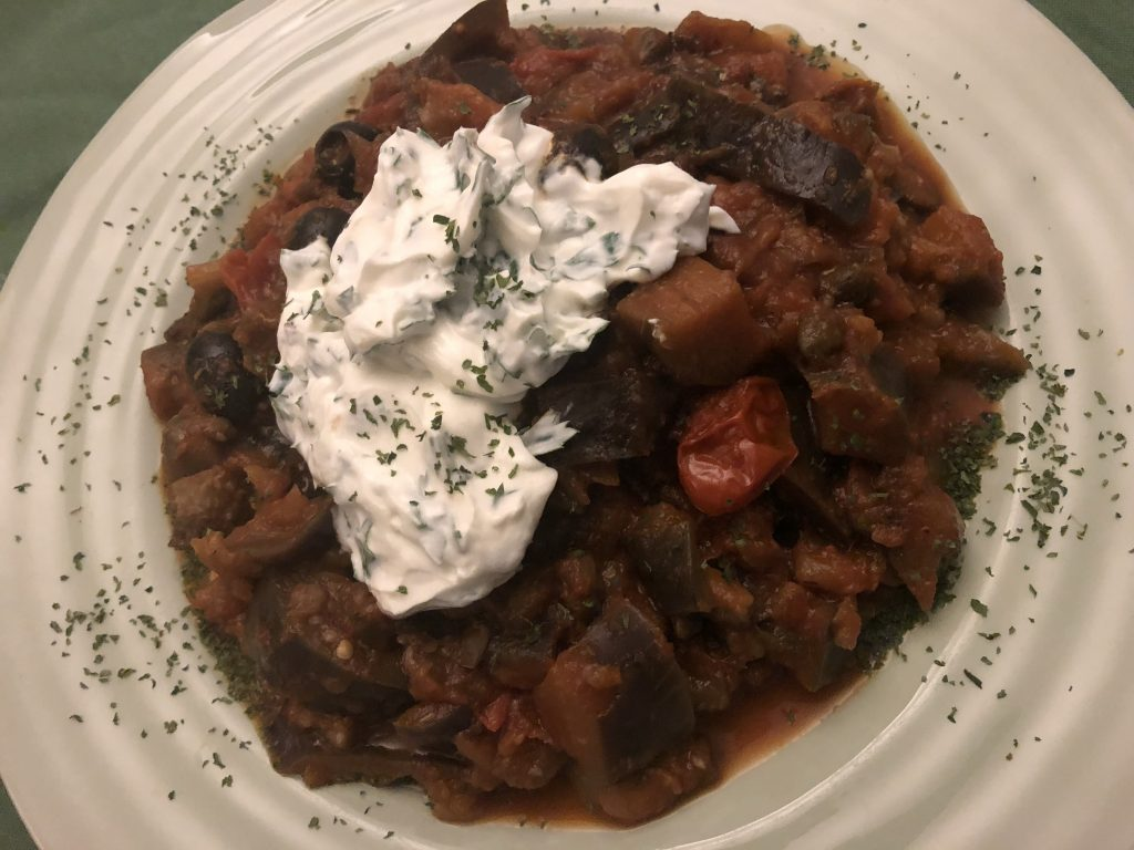 Aubergine Stew with Capers