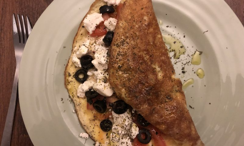 Greek Omelette with Feta and Olives