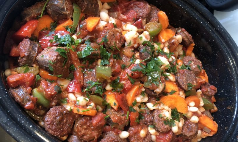 Greek sausage and beans recipe for all seasons