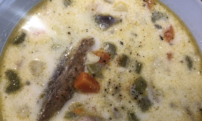 Smoked Mackerel soup recipe with cream
