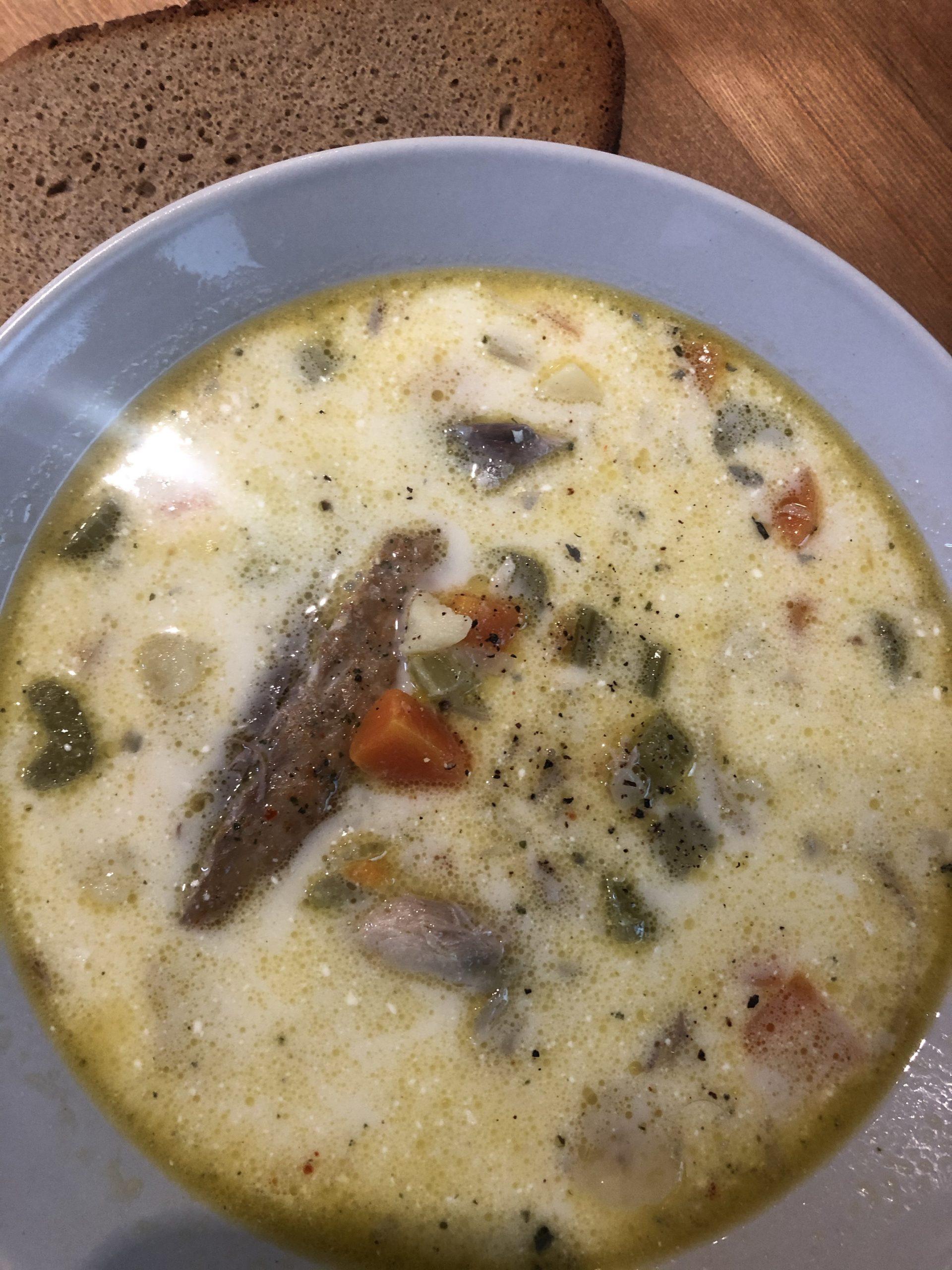 Smoked Mackerel soup recipe with cream