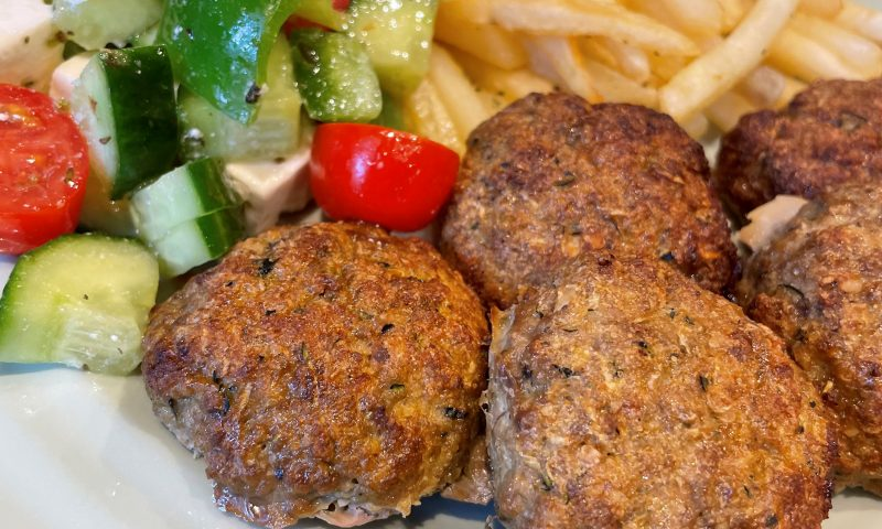 Pan-fried Meatballs Greek style
